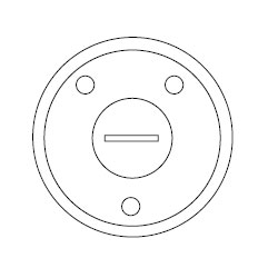 Hubbell Round Floor Box Flush Cover - 2-1/8