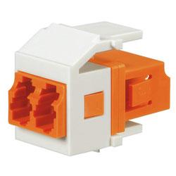 Panduit® Netkey Keyed E Duplex LC Adapter Module with Zirconia Split Sleeves