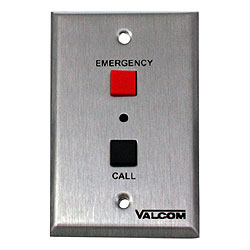 Valcom Emergency/Normal Call Switch with Volume Control