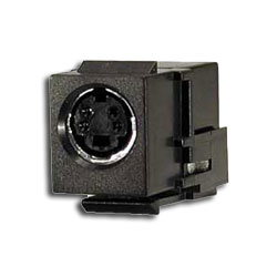 Hubbell S-Video Snap-Fit Module with Female Connector on Each End
