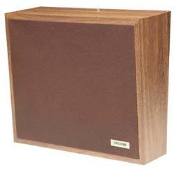 Valcom Dark Brown Cloth Grille Talkback Wall Speaker