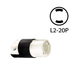 Hubbell NEMA L2-20P Non-Grounding Twist Lock Connector Body