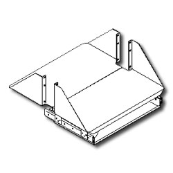 Southwest Data Products Double Sided Heavy Duty CPU/Monitor Shelf Set with Single Keyboard Tray