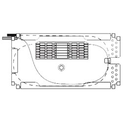 Corning Splice Tray for Holding 12 Heat-Shrink Splices or 6 Heat-Shrink Ri