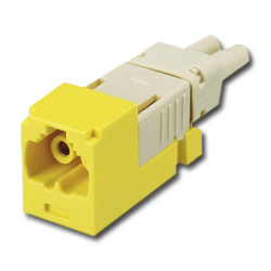 Panduit® Mini-Com FJ Opti-Crimp Z-Keyed Duplex Jack Yellow Module 62.5/125um