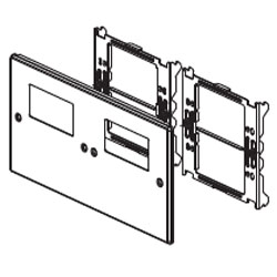 Legrand - Wiremold 6000/4000® Series Four-Gang Overlapping Cover Two Rectangular Openings