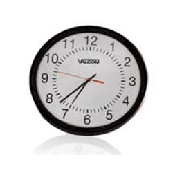 Valcom 12 Inch Round Wired Analog Clock