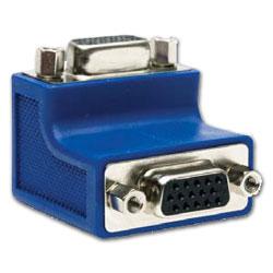Hubbell AV Connector, 15-Pin 90 Degree, Gender Changer, Female/Female Coupler