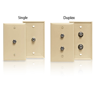 Leviton Type 625D F-Connector Wallplate