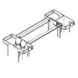 Chatsworth Products Rack Radius Drop for Double Sided Vertical Cabling Section