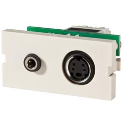 Legrand - Ortronics Series II S-Video with 3.5mm (Package of 10)