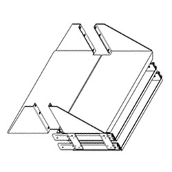 Chatsworth Products CPU/Monitor Shelf with Double Sliding Keyboard Tray