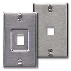 Leviton QuickPort Stainless Steel Wallphone Wallplate