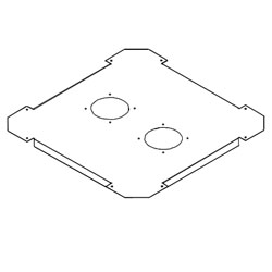 Southwest Data Products Patch Panel Flat Bottom With Fan Holes