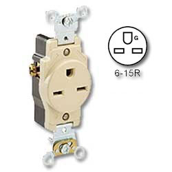 Leviton Side Wired 15A/250v Single Receptacle
