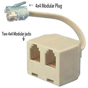 Allen Tel 4C4P Handset Modular Plug
