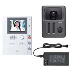 Aiphone Pantilt Color Video Hands-Free Master with Built-In Memory Unit with Surface Mount Door Station and 24V DC, 2A Power Supply