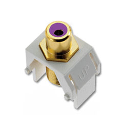 Legrand - On-Q Purple RCA to F Connector