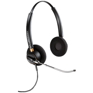 Plantronics EncorePRO HW520V Over the Head Binaural Headset with Voice Tube