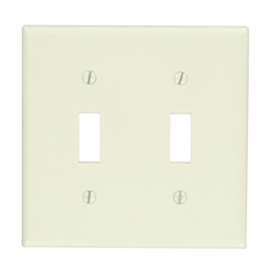 Leviton 2-Gang Toggle Device Switch Wallplate