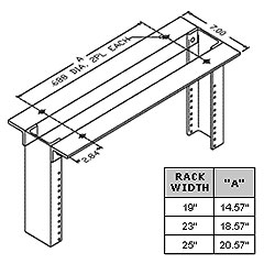 Chatsworth Products Heavy-Duty Top Angle
