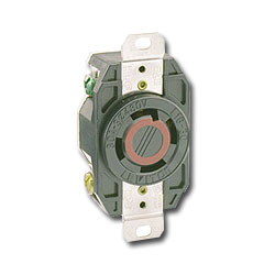Leviton 20 AMP,  Single Flush Receptacle - 125/250V (Grounding) V-0-MAX