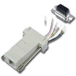 Allen Tel Shielded Adapter Kit with Metalized Plastic Hoods (9-Pin)