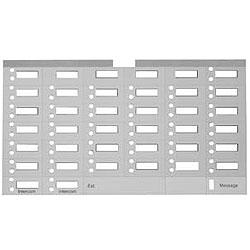 Avaya Partner Designation Paper Strip for 34 Button Display Partner Euro Style Series 1