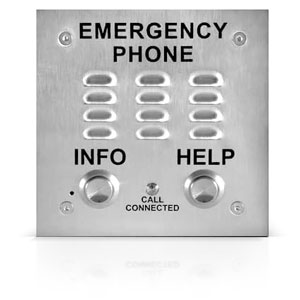Viking A.D.A. Compliant Emergency Speakerphone Built-in Auto Dialer and Digital Announcer