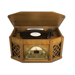 Ion Vintage-Style Music Turntable System