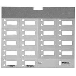 Avaya Partner Designation Paper Strip for 18 Button Partner Euro Style Series 1