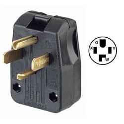 Leviton 30Amp 125V/50Amp 250V Dual Power Attachment Plugs NEMA 14-30P/14-50P