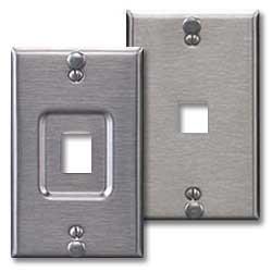 Leviton QuickPort Stainless Steel Wallphone Wallplate