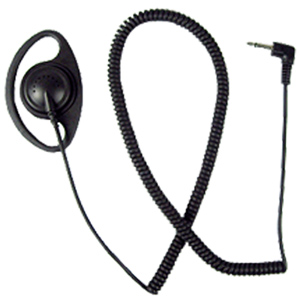 Pryme SCOUT Series Earphone with Coiled Cord and Right Angle Connector