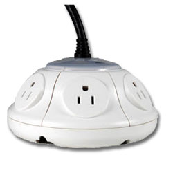 ezGear ezSpace UFO Power Extender with Surge Protection