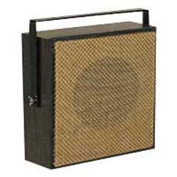 Valcom Light Brown Open-Weave Grille Talkback Corridor Speaker