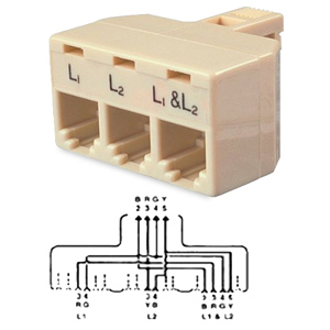 Allen Tel Bridge Tri-plex Splitter Adapter