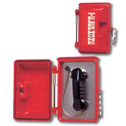 Allen Tel Single Line Pushbutton Pulse (Rotary) Dial Phone with Stainless Steel Hasp